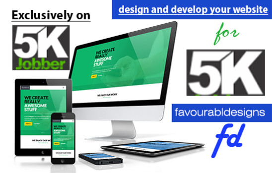 I will design and develop your website (any kind of website or web app)